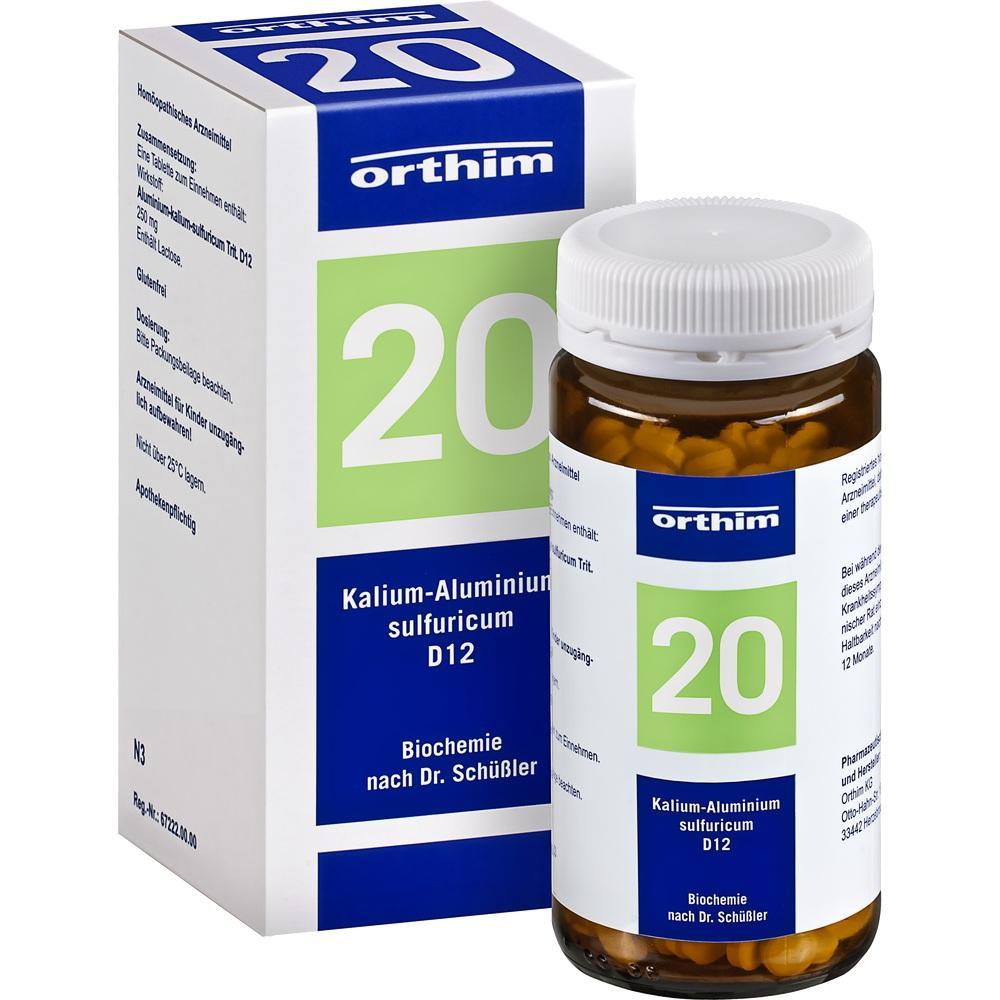 Biochemie Orthim 20 Kalium alumin.sulfur.D 12 Tab. 400 St