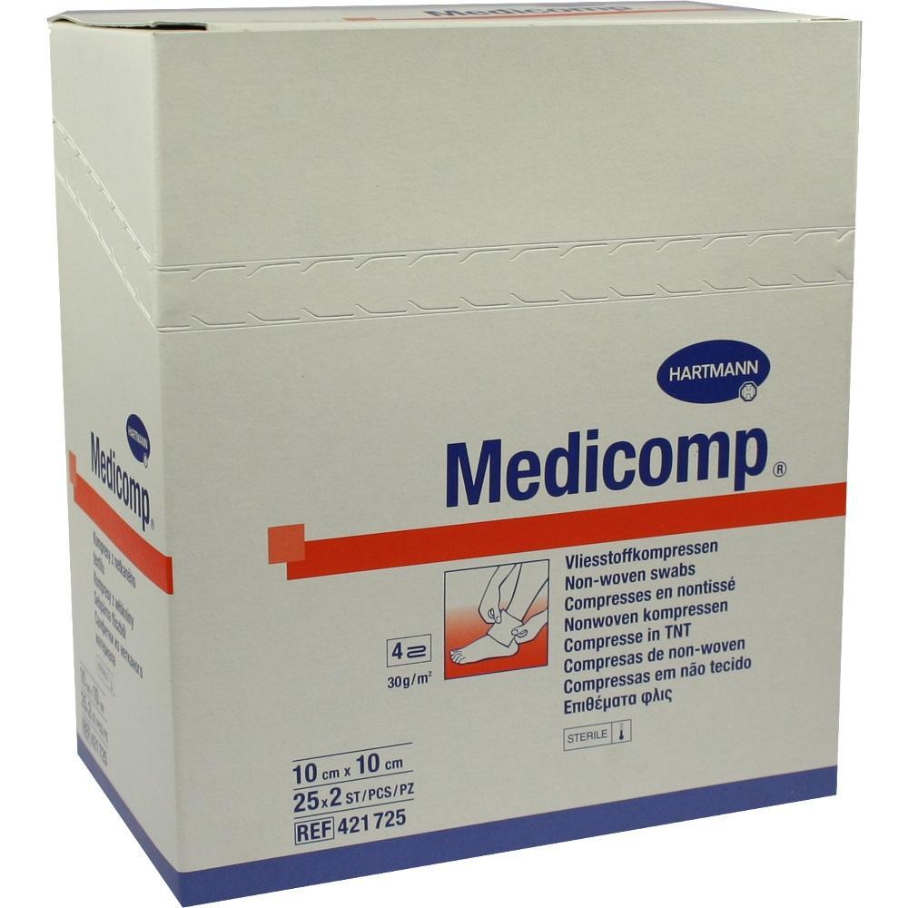 Medicomp Kompressen 10x10 cm steril 25X2 St