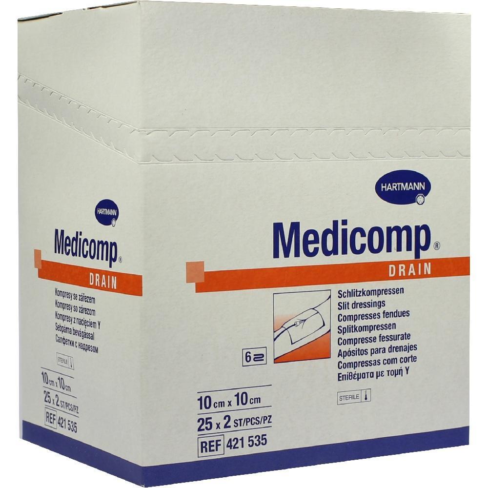 Medicomp Drain Kompressen 10x10 cm steril 25X2 St