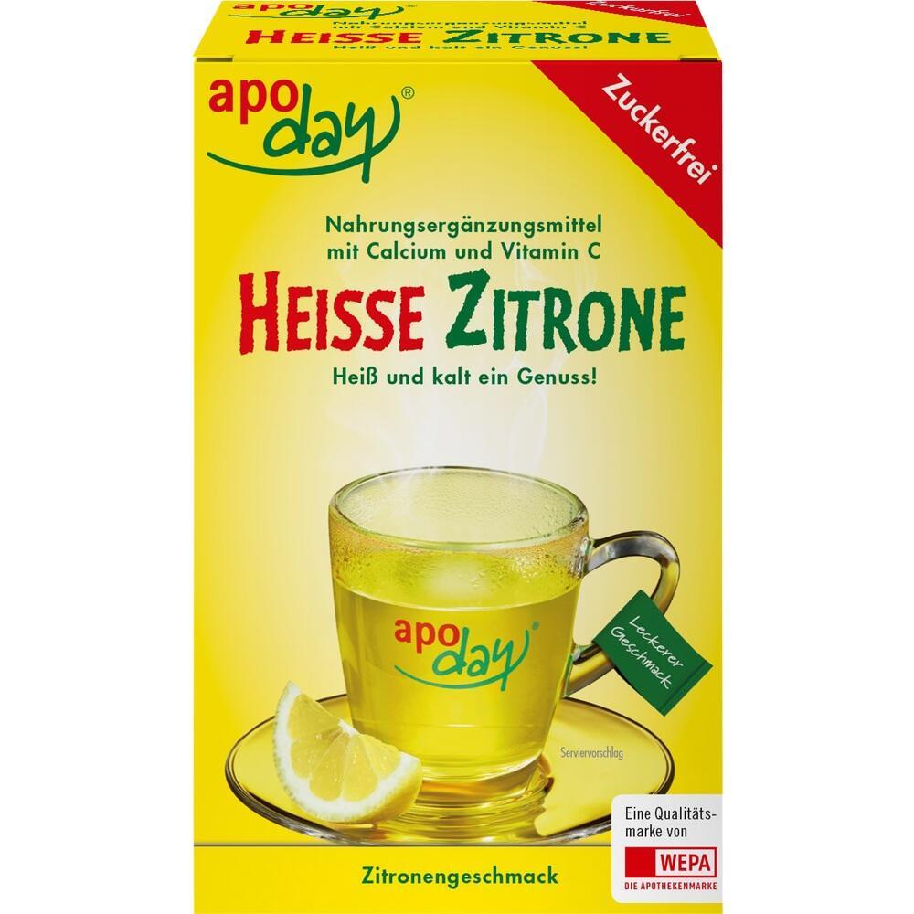 Apoday heiße Zitrone Vit.C u.Calcium zuckerfr.Plv. 10X10 g