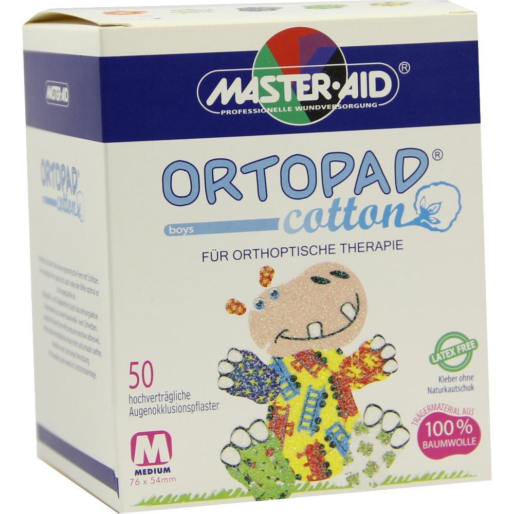 Ortopad cotton boys medium Augenokklusionspflaster 50 St