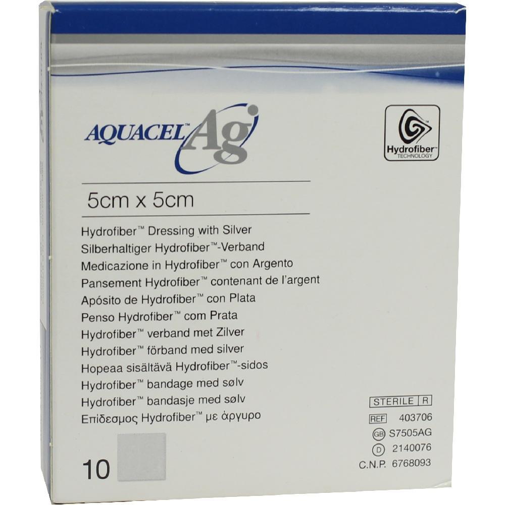 Aquacel Ag 5x5 cm Kompressen 10 St