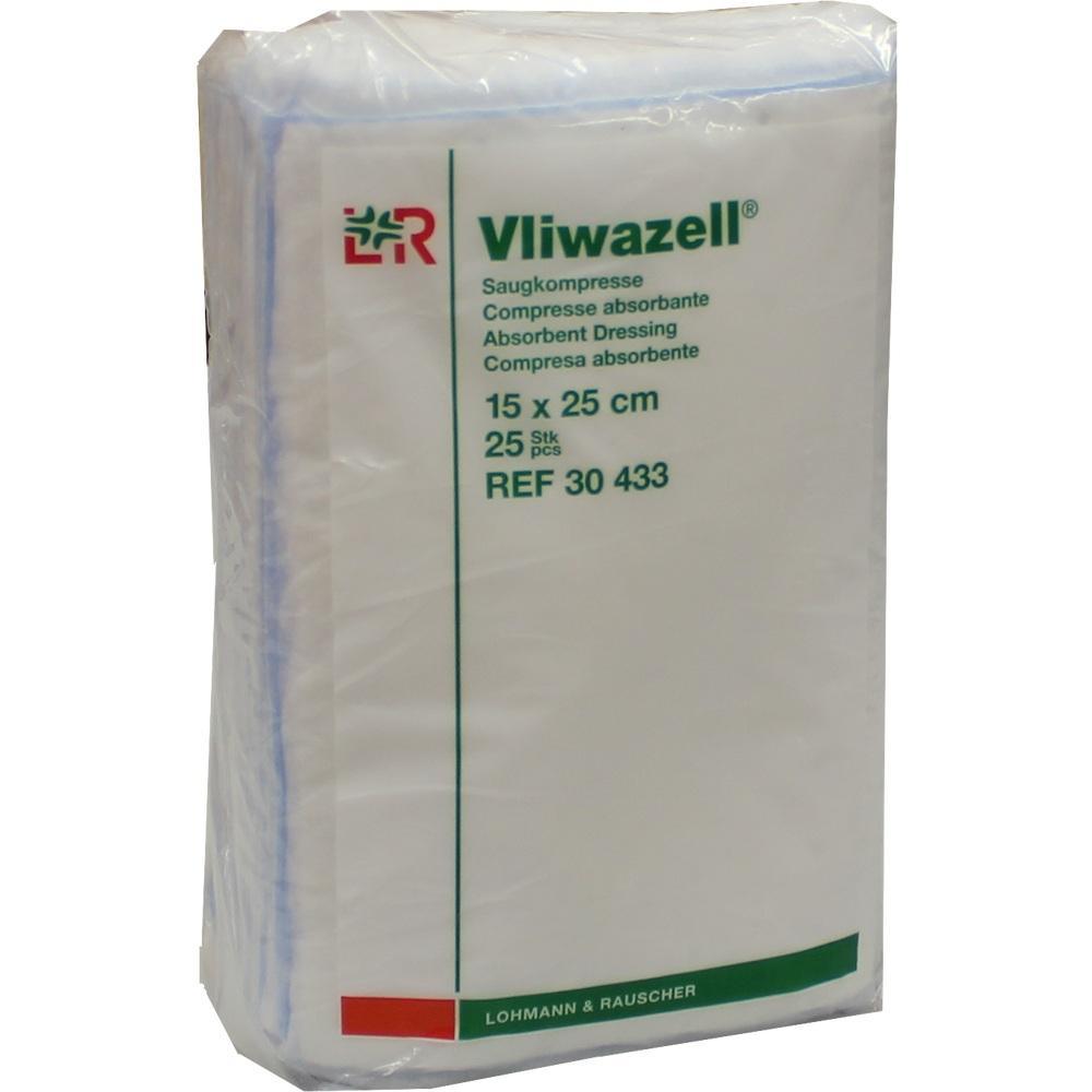 Vliwazell Saugkompressen 15x25 cm unsteril 25 St