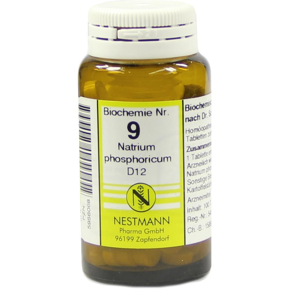 Biochemie 9 Natrium phosphoricum D 12 Tabletten 100 St