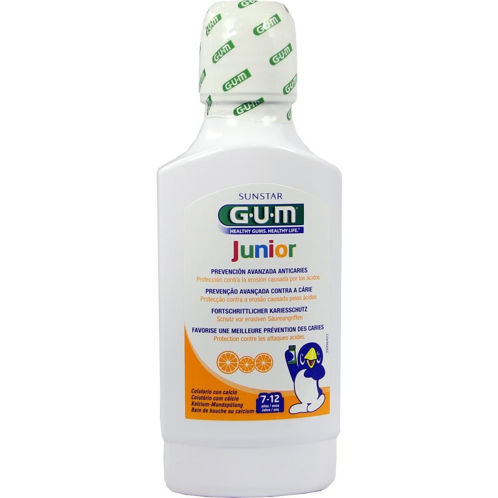 Gum Junior Mundspülung m.Calcium Orange 7-12 J. 300 ml