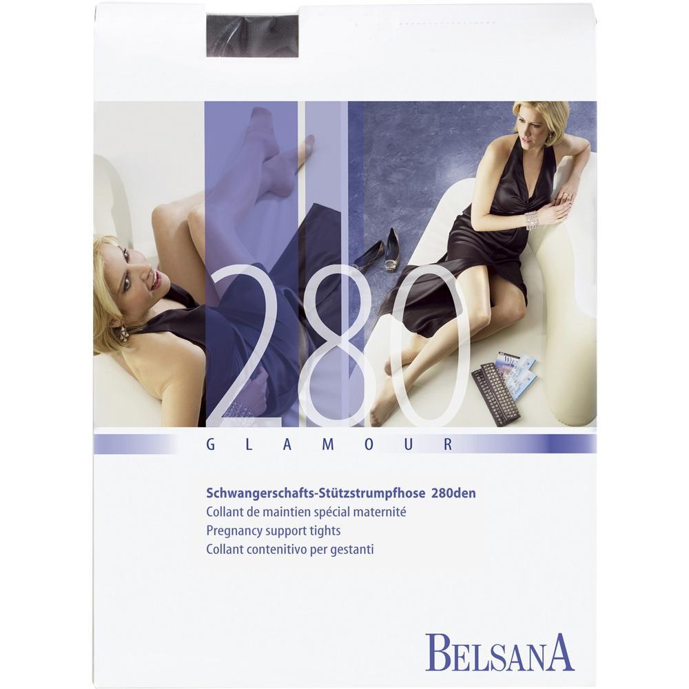 Belsana glamour 280den At/U lang L schw.m.Sp. 1 St