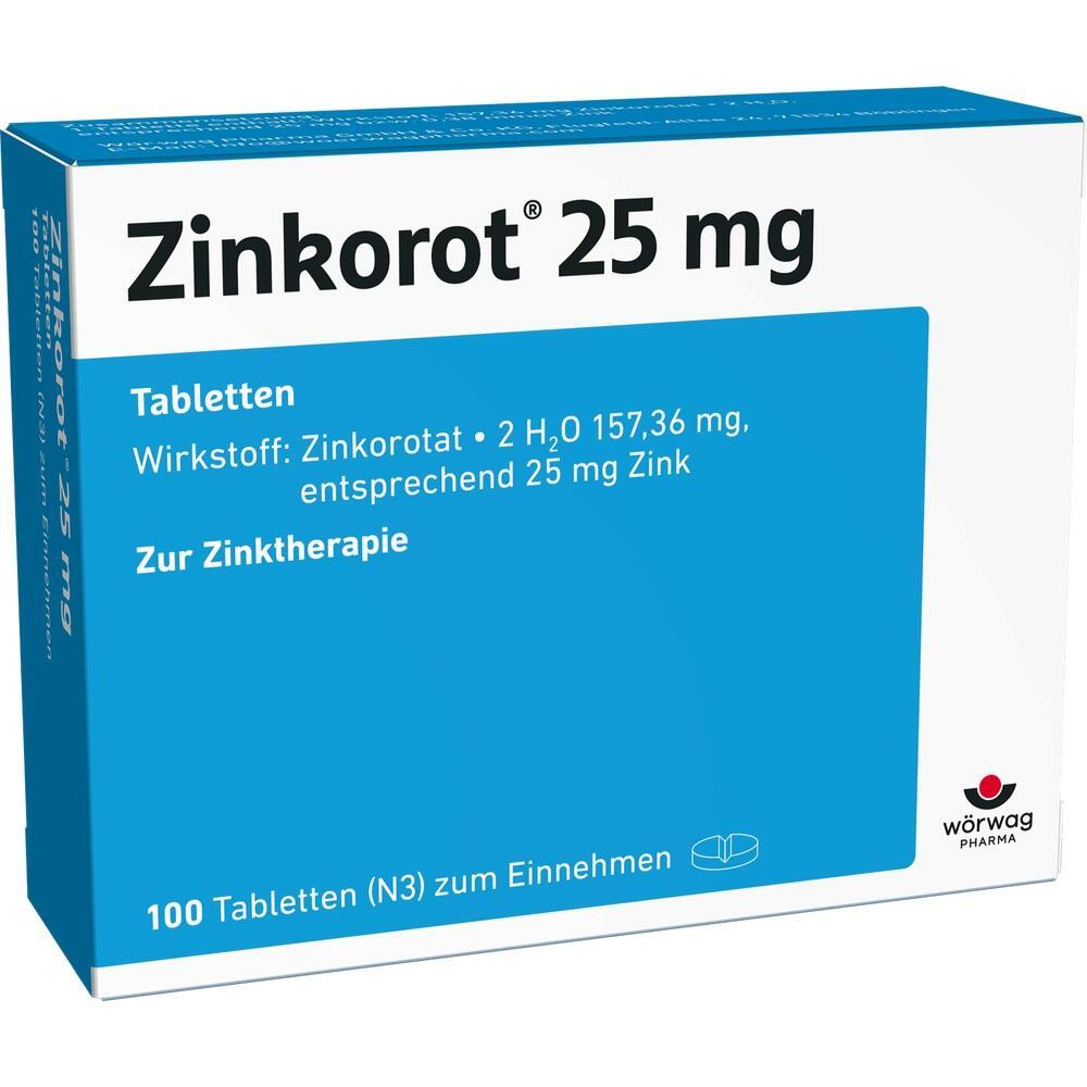 Zinkorot 25 Tabletten 100 St