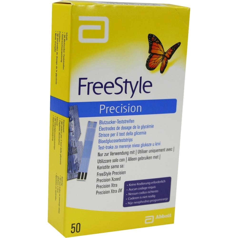 Freestyle Precision Blutzucker Teststr.o.Codier. 50 St