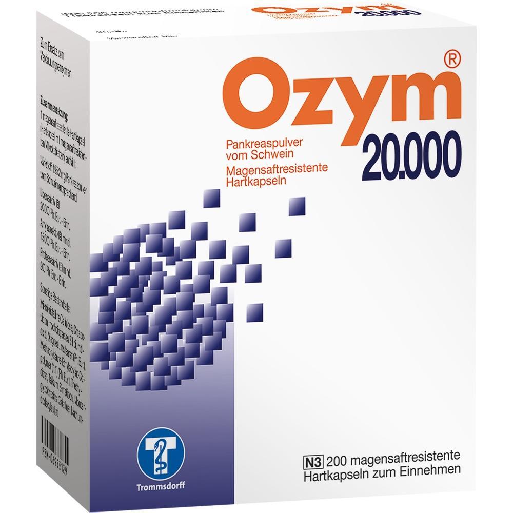 Ozym 20.000 Hartkapseln magensaftr. 200 St