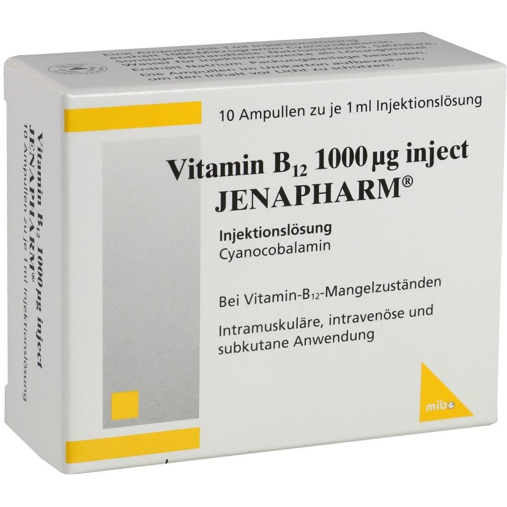 Vitamin B12 1.000 µg Inject Jenapharm Ampullen 10X1 ml