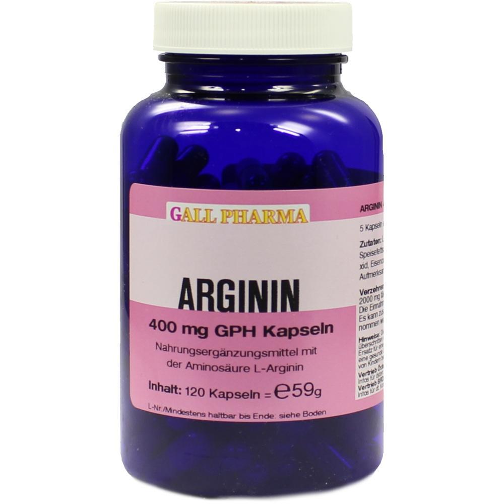 Arginin 400 mg Gph Kapseln 120 St