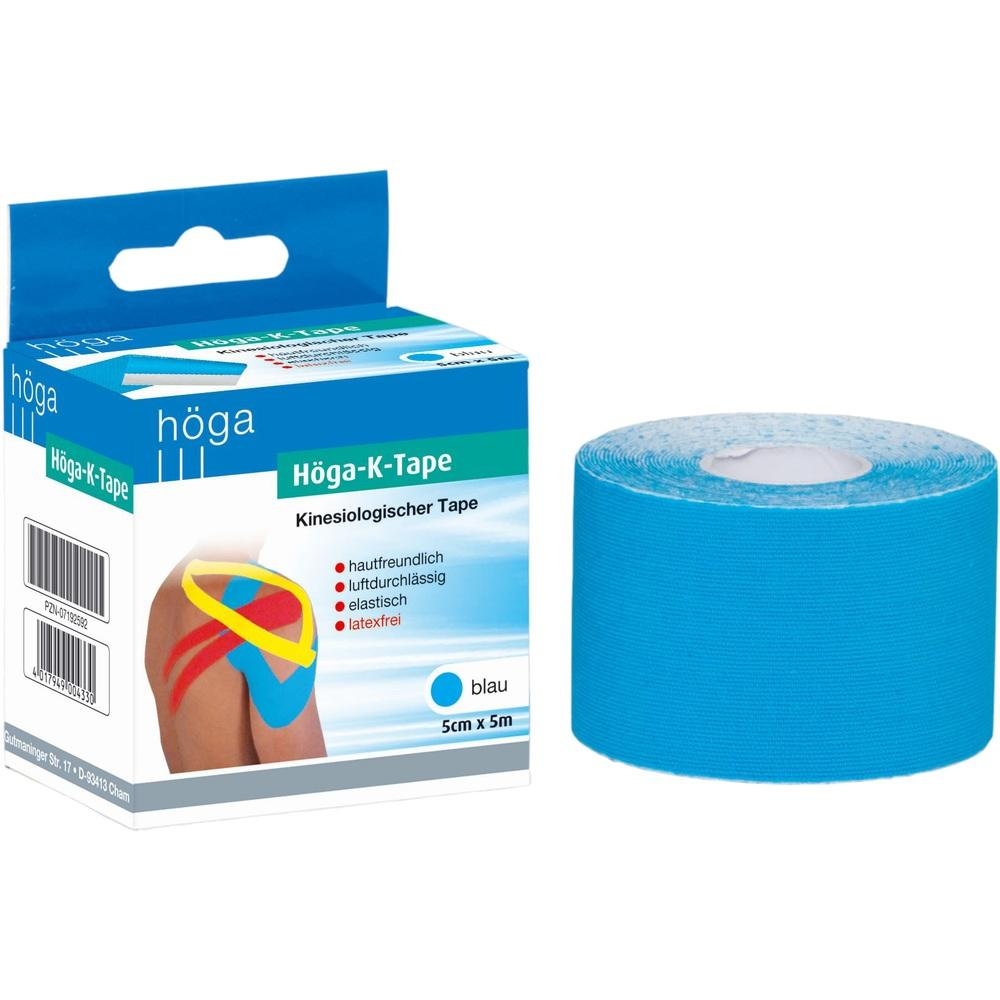 Höga K-Tape 5 cmx5 m blau kinesiologischer Tape 1 St