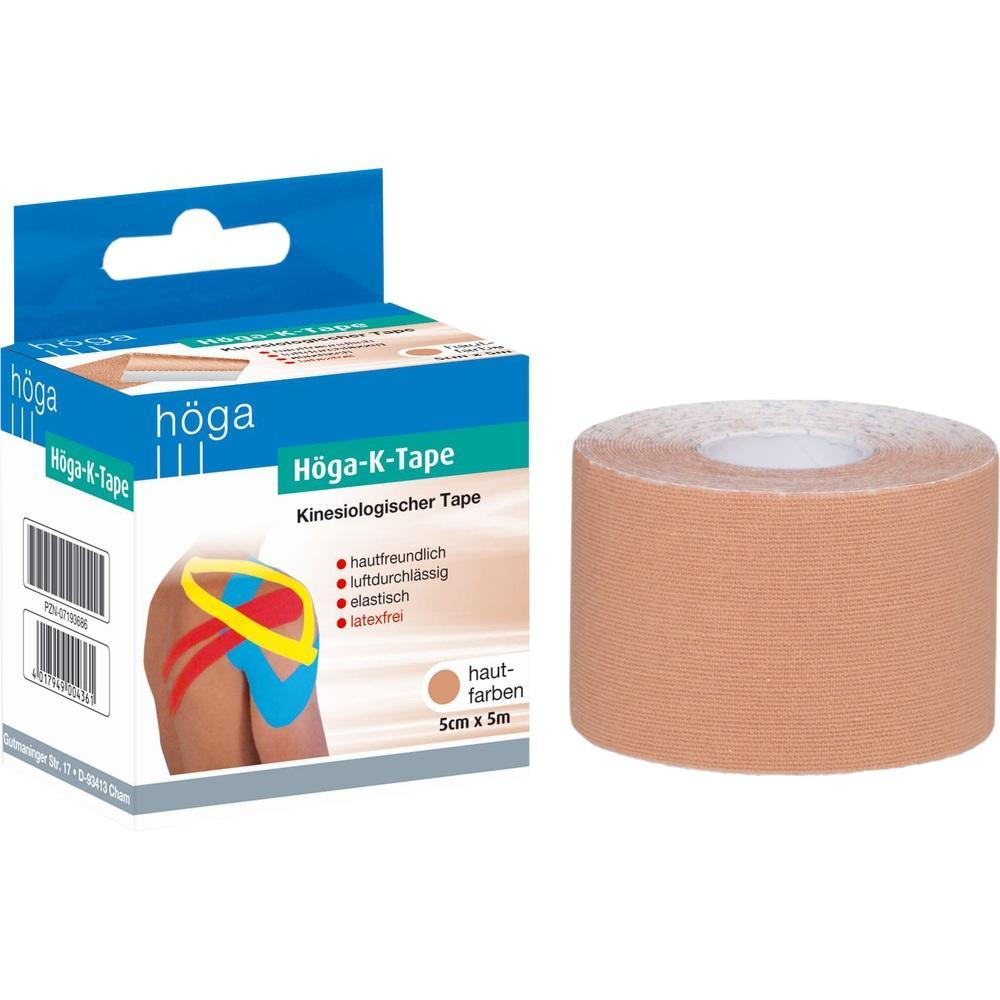 Höga K-Tape 5 cmx5 m hautfarbe kinesio.Tape 1 St