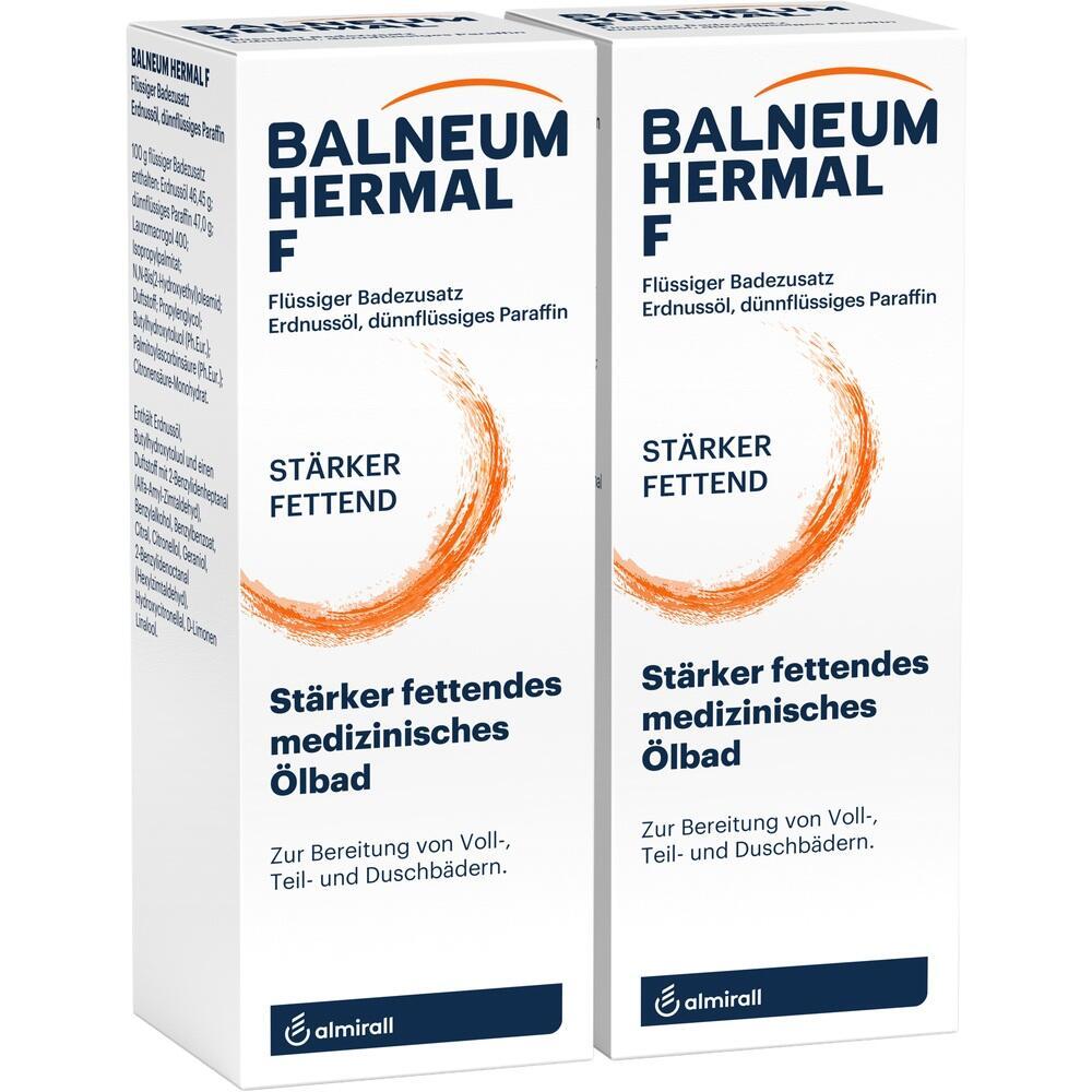 Balneum Hermal F flüssiger Badezusatz 2X500 ml