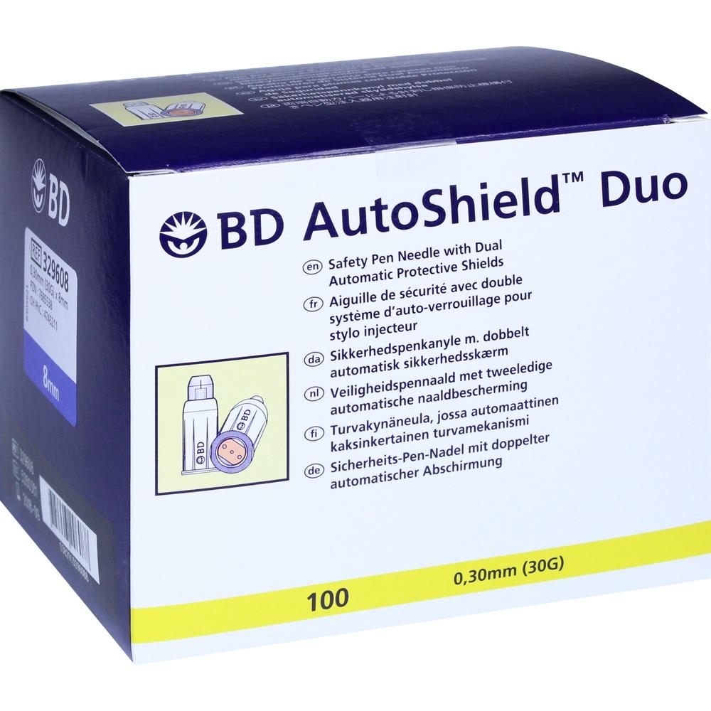 Bd Autoshield Duo Sicherheits Pen Nadel 8 mm 100 St