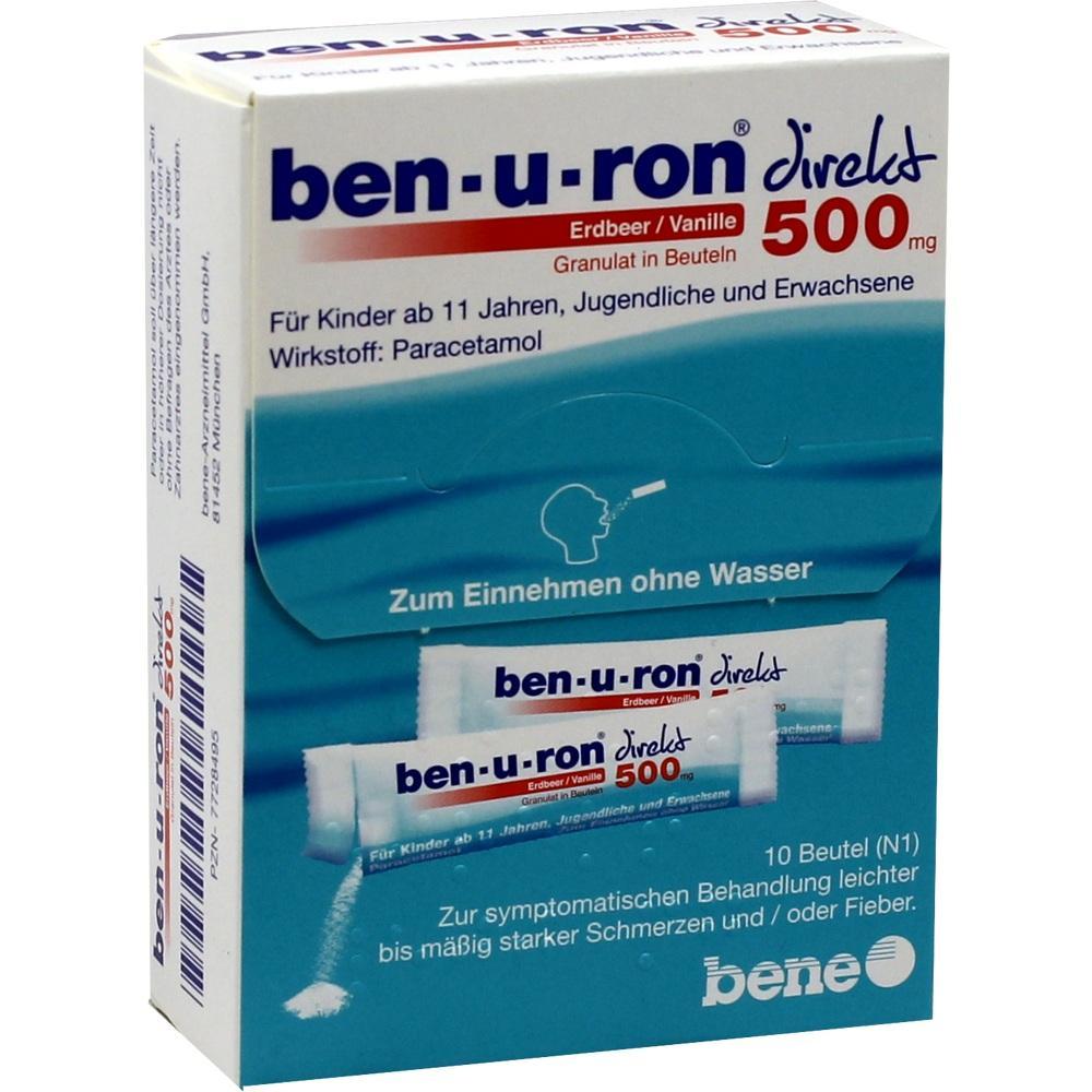 Ben-U-Ron direkt 500 mg Granulat Erdbeer/Vanille 10 St