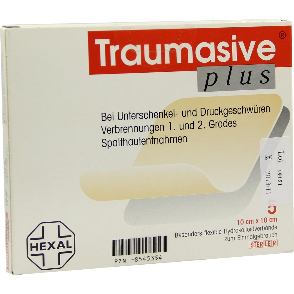 Traumasive plus 10x10 cm Hydrokoll.steril 5 St