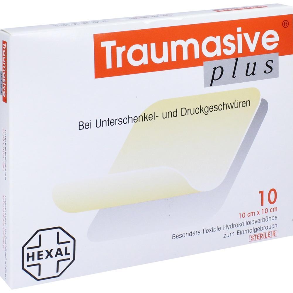 Traumasive plus 10x10 cm Hydrokoll.steril 10 St