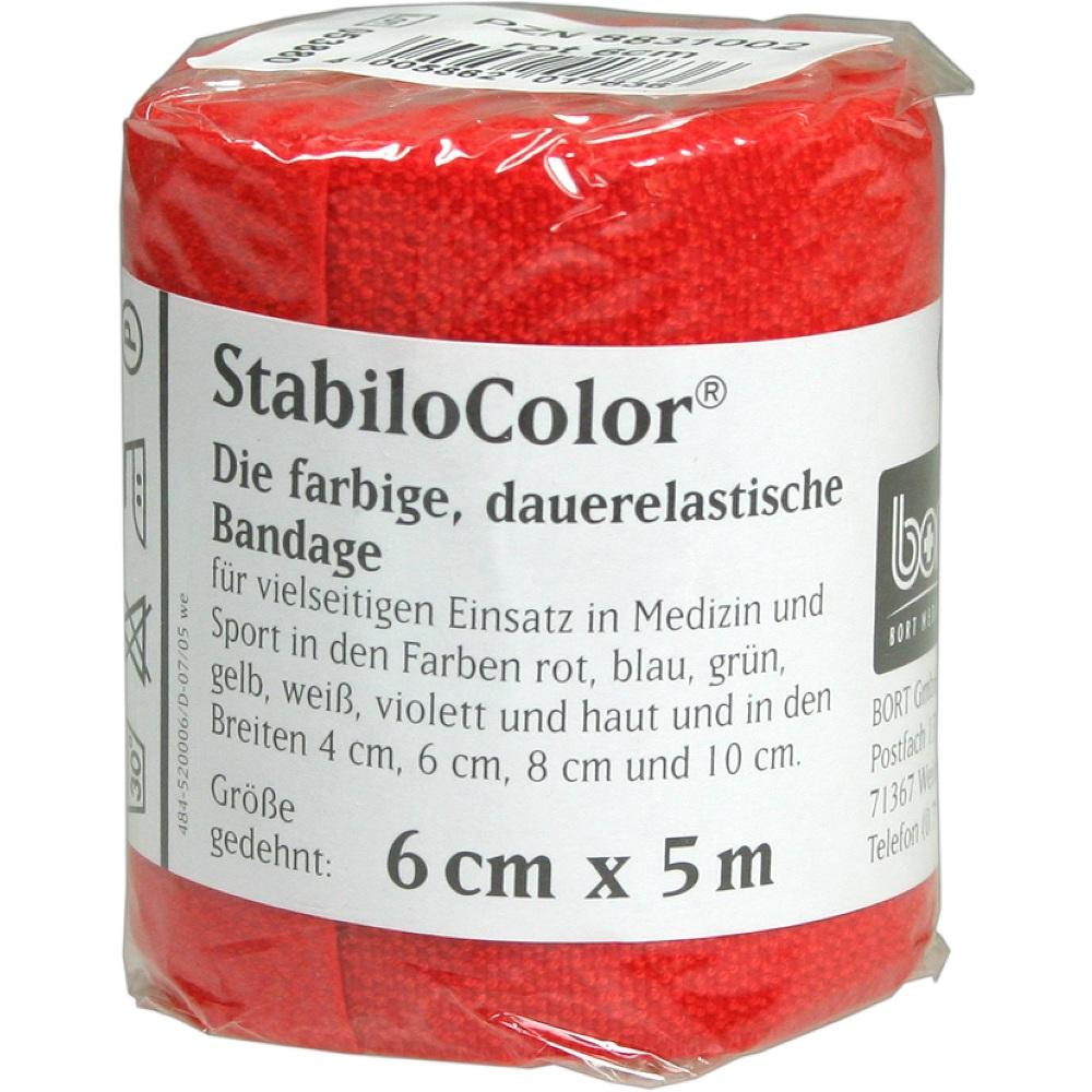 Bort StabiloColor Binde 6cm rot 1 St
