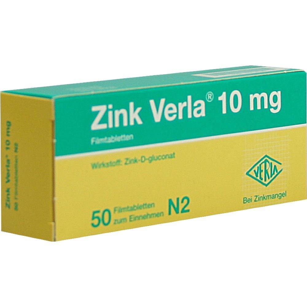 Zink Verla 10 mg Filmtabletten 50 St