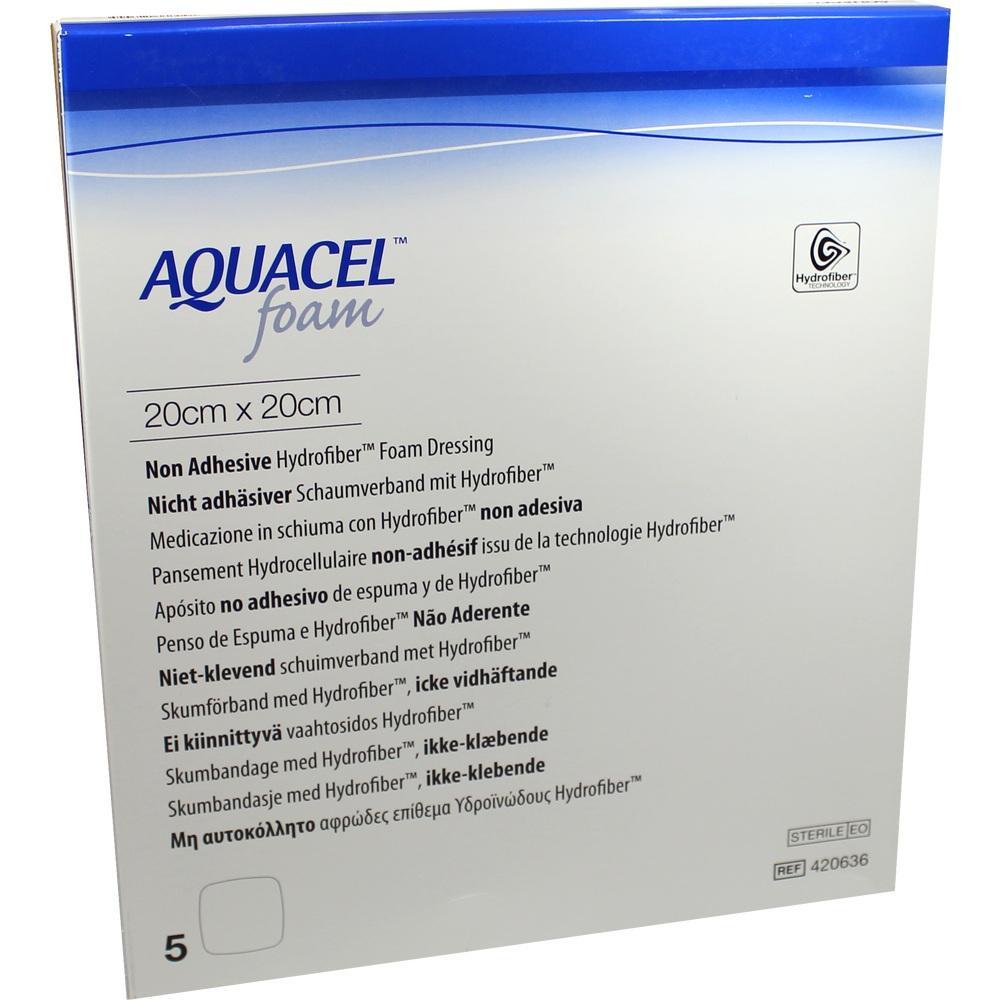 Aquacel Foam nicht adhäsiv 20x20 cm Verband 5 St