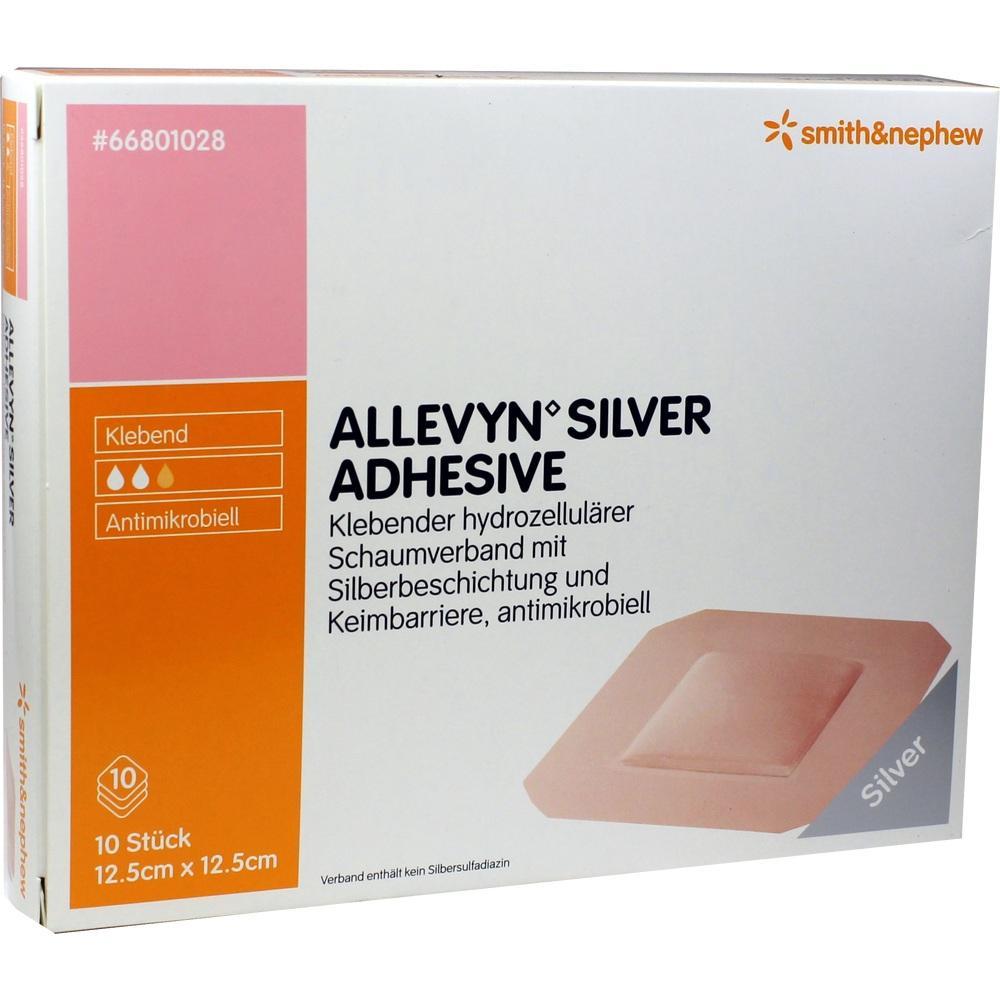 Allevyn Silver Adhesive 12,5x12,5 cm Schaumverband 10 St