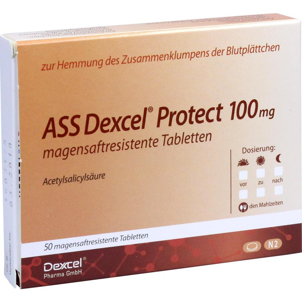 Ass Dexcel Protect 100 mg magensaftres.Tabletten 50 St