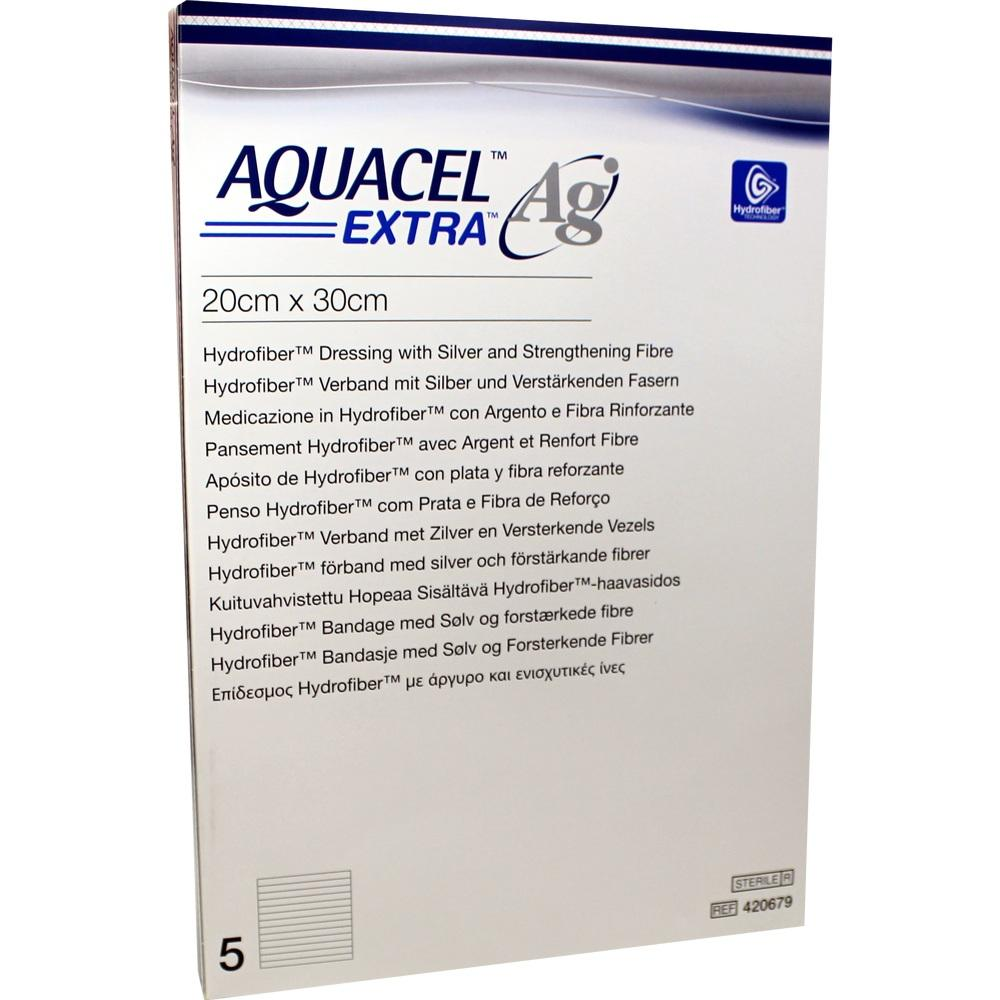 Aquacel Ag Extra 20x30 cm Kompressen 5 St