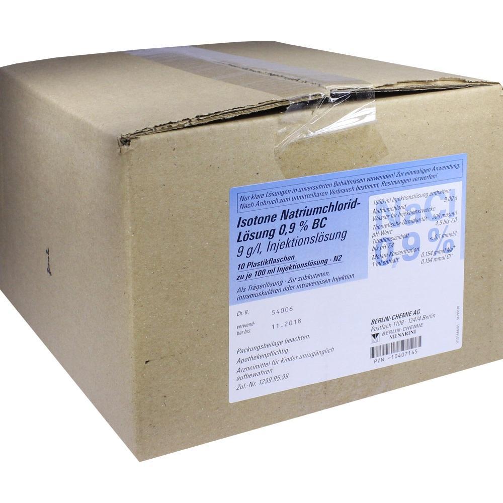Isotone NaCl Lösung 0,9% Bc Plastikfl.Inj.-Lsg. 10X100 ml