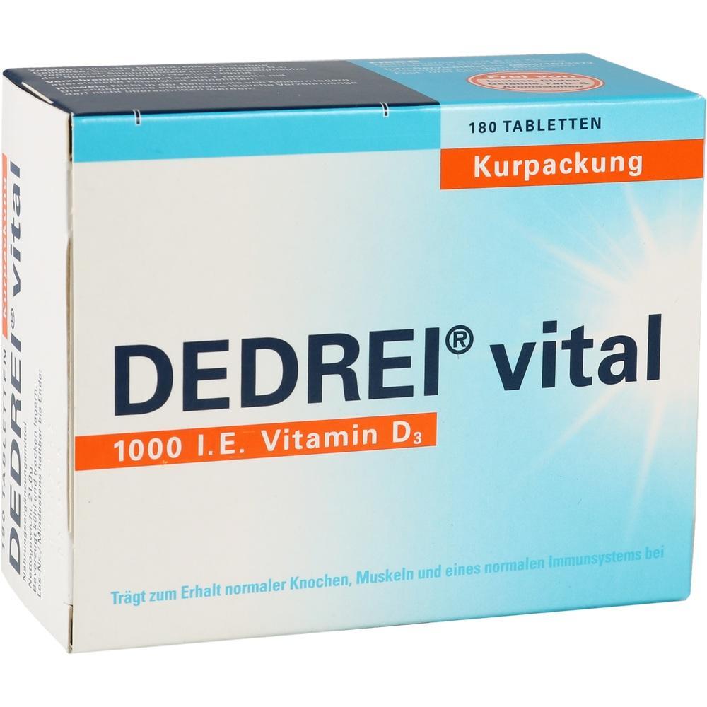 Dedrei vital Tabletten Kurpackung 180 St