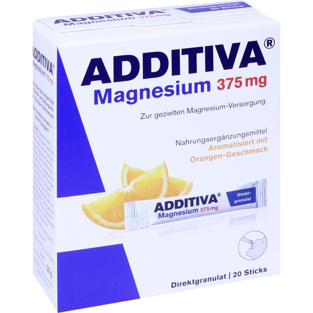 Additiva Magnesium 375 mg Sticks Orange 20 St