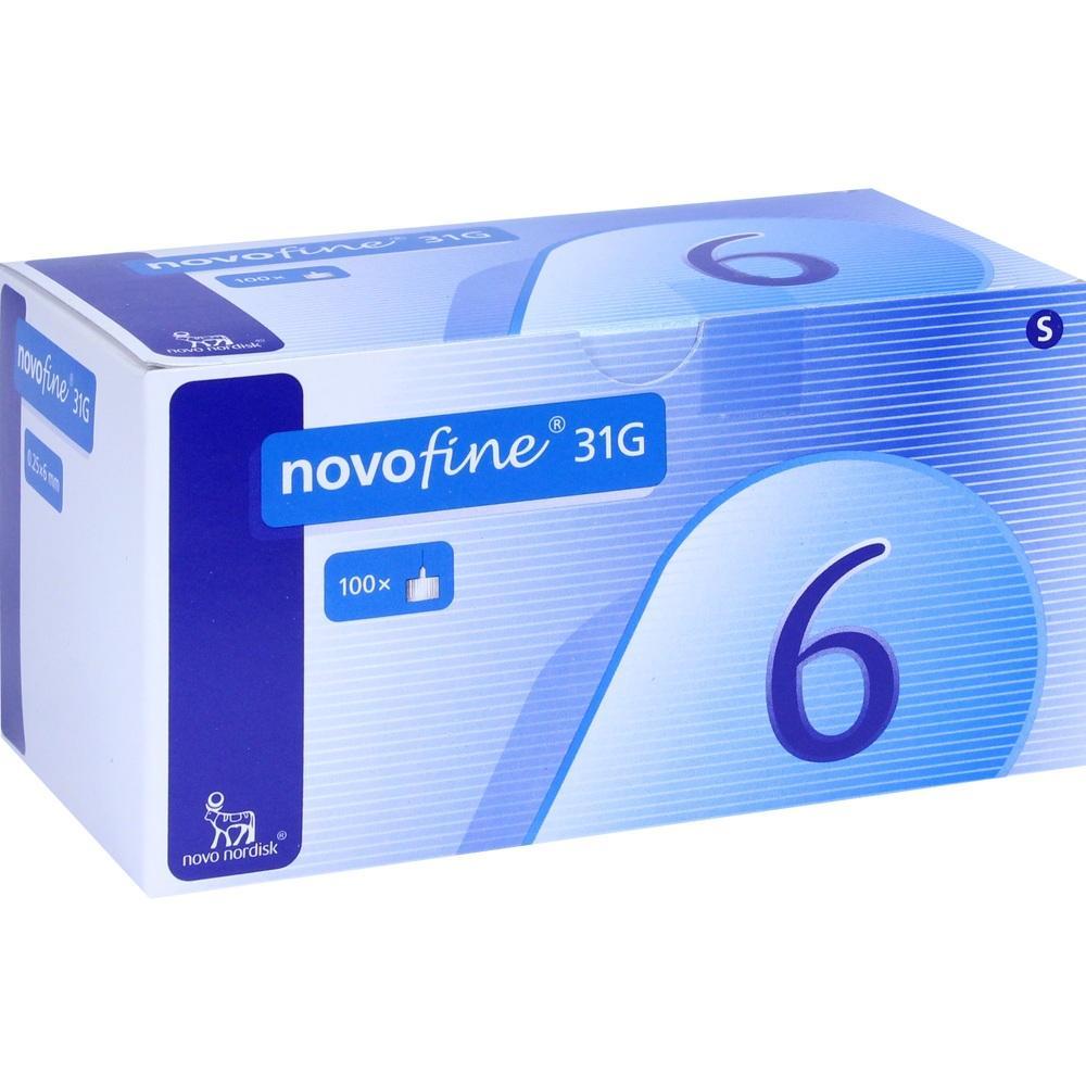 Novofine 6 Kanülen 0,25x6 mm 100 St