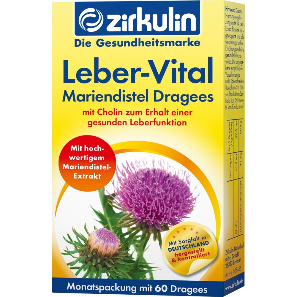 Zirkulin Leber-Vital Mariendistel Dragees 60 St