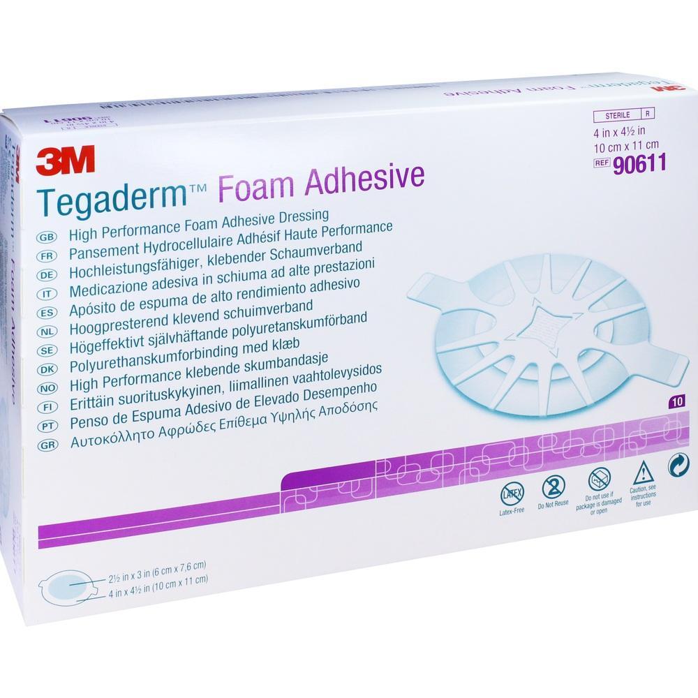 Tegaderm Foam Adhesive 10x11 cm oval 90611 10 St