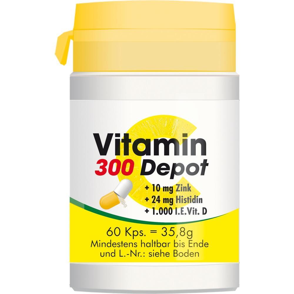 Vitamin C 300 Depot+Zink+Histidin+D Kapseln 60 St