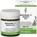 BIOCHEMIE 11 Silicea D 3 Tabletten