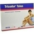 TRICODUR Talus Bandage L rechts weiß blau