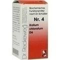 RECKEWEG  BIOCHEMIE 4 Kalium chloratum D 6 Comprimidos