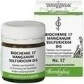 BIOCHEMIE 17 Manganum sulfuricum D 6 Tabletten