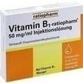 VITAMINE B1 Ratiopharm 50mg/ml Solution injectable Ampoules