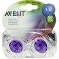 AVENT Schnuller durchsichtig 3-6 Mon.BPA-frei