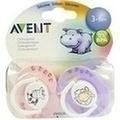 AVENT Schnuller versch.Designs 3-6 Mon.BPA-frei