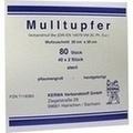 MULLTUPFER 20x20 cm pflaumengroß steril