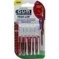 GUM TRAV-LER 0,8mm Kerze rot Interdental+6Kappen