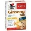 DOPPELHERZ Ginseng 200+B-Vitamine+Zink Kapseln