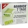 ANABOX Compact 7 Tage Wochendosierer grün/weiß