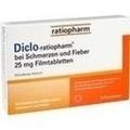 DICLO-RATIOPHARM bei Schmerzen u.Fieber 25 mg FTA