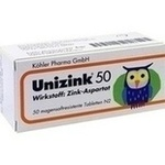 UNIZINK 50 magensaftresistente Tabletten**