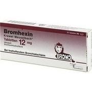 BROMHEXIN Krewel Meuselb.Tabletten 12mg