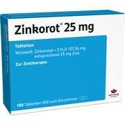 ZINKOROT 25 Tabletten